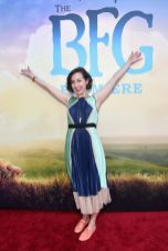 """HOLLYWOOD, CA - JUNE 21: Actress Kristen Schaal arrives on the red carpet for the US premiere of Disney's """"The BFG,"""" directed and produced by Steven Spielberg. A giant sized crowd lined the streets of Hollywood Boulevard to see stars arrive at the El Capitan Theatre. """"The BFG"""" opens in U.S. theaters on July 1, 2016, the year that marks the 100th anniversary of Dahl's birth, at the El Capitan Theatre on June 21, 2016 in Hollywood, California. (Photo by Alberto E. Rodriguez/Getty Images for Disney) *** Local Caption *** Kristen Schaal"""