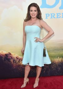 """HOLLYWOOD, CA - JUNE 21: Actress Alicia Machado arrives on the red carpet for the US premiere of Disney's """"The BFG,"""" directed and produced by Steven Spielberg. A giant sized crowd lined the streets of Hollywood Boulevard to see stars arrive at the El Capitan Theatre. """"The BFG"""" opens in U.S. theaters on July 1, 2016, the year that marks the 100th anniversary of Dahl's birth, at the El Capitan Theatre on June 21, 2016 in Hollywood, California. (Photo by Alberto E. Rodriguez/Getty Images for Disney) *** Local Caption *** Alicia Machado"""