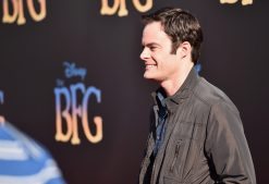 """HOLLYWOOD, CA - JUNE 21: Actor Bill Hader arrives on the red carpet for the US premiere of Disney's """"The BFG,"""" directed and produced by Steven Spielberg. A giant sized crowd lined the streets of Hollywood Boulevard to see stars arrive at the El Capitan Theatre. """"The BFG"""" opens in U.S. theaters on July 1, 2016, the year that marks the 100th anniversary of Dahl's birth, at the El Capitan Theatre on June 21, 2016 in Hollywood, California. (Photo by Alberto E. Rodriguez/Getty Images for Disney) *** Local Caption *** Bill Hader"""
