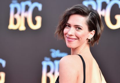 """HOLLYWOOD, CA - JUNE 21: Actress Rebecca Hall arrives on the red carpet for the US premiere of Disney's """"The BFG,"""" directed and produced by Steven Spielberg. A giant sized crowd lined the streets of Hollywood Boulevard to see stars arrive at the El Capitan Theatre. """"The BFG"""" opens in U.S. theaters on July 1, 2016, the year that marks the 100th anniversary of Dahl's birth, at the El Capitan Theatre on June 21, 2016 in Hollywood, California. (Photo by Alberto E. Rodriguez/Getty Images for Disney) *** Local Caption *** Rebecca Hall"""
