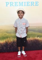 """HOLLYWOOD, CA - JUNE 21: Actor Miles Brown arrives on the red carpet for the US premiere of Disney's """"The BFG,"""" directed and produced by Steven Spielberg. A giant sized crowd lined the streets of Hollywood Boulevard to see stars arrive at the El Capitan Theatre. """"The BFG"""" opens in U.S. theaters on July 1, 2016, the year that marks the 100th anniversary of Dahl's birth, at the El Capitan Theatre on June 21, 2016 in Hollywood, California. (Photo by Alberto E. Rodriguez/Getty Images for Disney) *** Local Caption *** Miles Brown"""