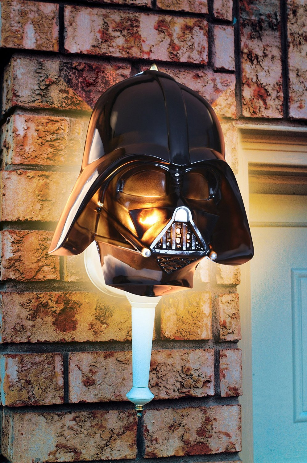 Join the Dark Side with a Darth Vader Porch Light Cover