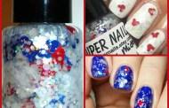 Patriotic Mickey Nail Polish For Fourth of July