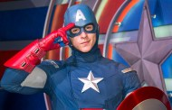 Captain America Talks to Disney Park Guest in Sign Language