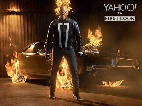 Marvel Television and ABC have released first look of Ghost Rider from Agents of S.H.I.E.L.D