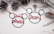 Elegant and Sophisticated Personalized Mickey Mouse Ornaments