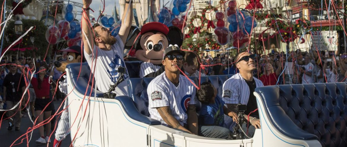 Baseball World Champions Chicago Cubs Celebrate With A Trip to Disney World