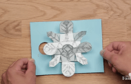 DIY Frozen Pop-Up Holiday Card