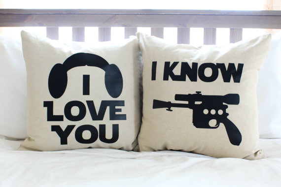 Add a Little Star Wars Love to your Home with Han & Leia Pillows