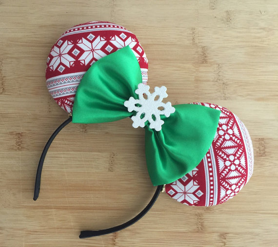 Adorable and Cozy Holiday Sweater Mouse Ear Headband