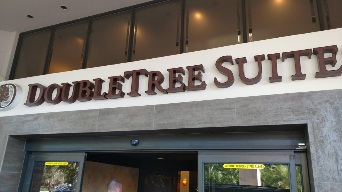 Staying at the DoubleTree Suites by Hilton Orlando just a step away from Disney Springs