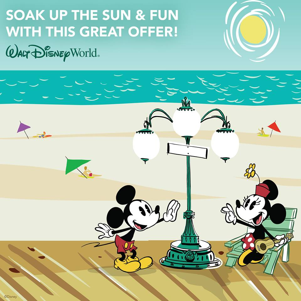 "Save up to 25% on Rooms and Receive an Extra Park Day with the ""Fun & Sun Room Offer"" at Disney World"