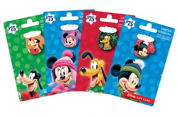 Collect all the New Disney Gift Card with Special Edition Holiday Pins