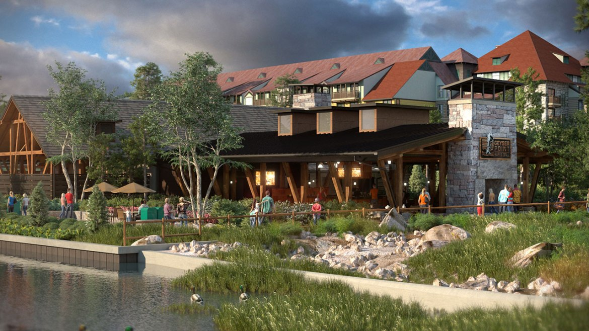 Geyser Point Bar & Grill Slated to Open at Wilderness Lodge in February