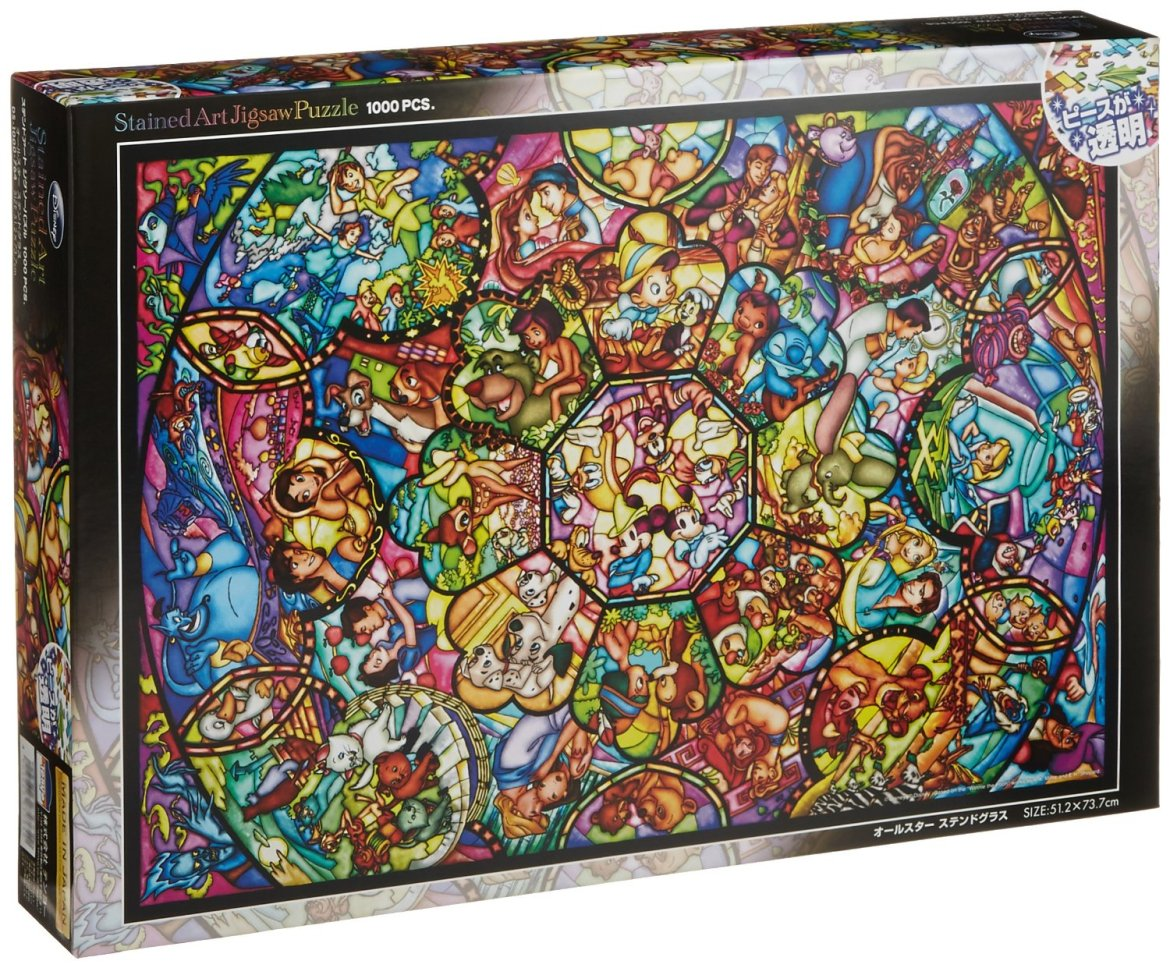 Gorgeous 1000 Piece Disney Stained Glass Art Jigsaw Puzzle