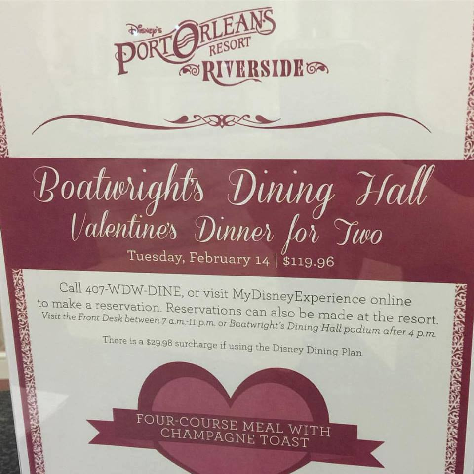 Boatwright's Dining Hall Hosting Valentine's Day Dinner for Two