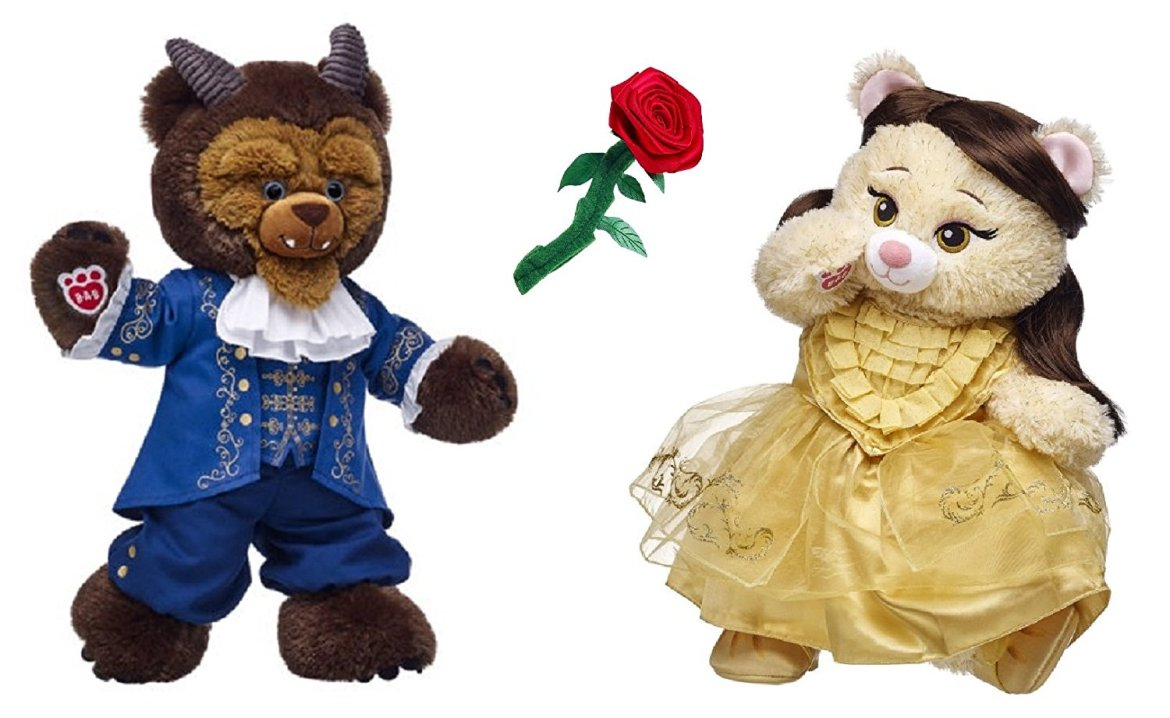 Enchanting Complete Beauty and the Beast Build-A-Bear Set