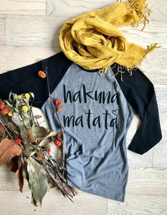 No Fashion Worries with This Hakuna Matata Tee Shirt