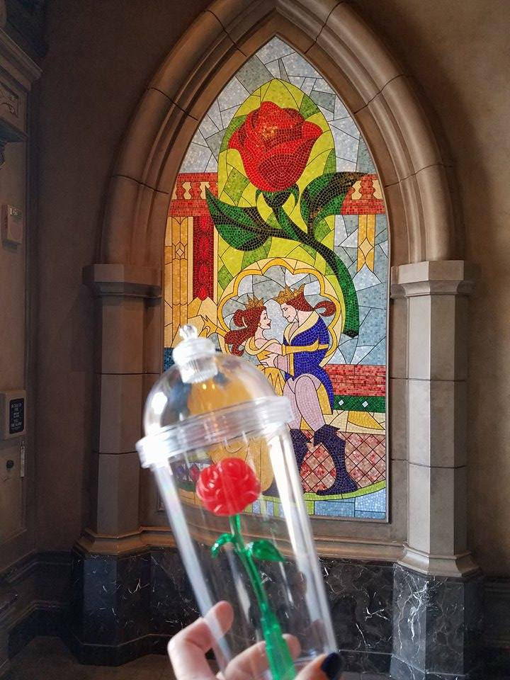 Beauty and the Beast Rose Cup Available at The El Capitan Theatre