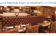 DVC Members Invited to an Exclusive Dining Event at Markham's in Golden Oak