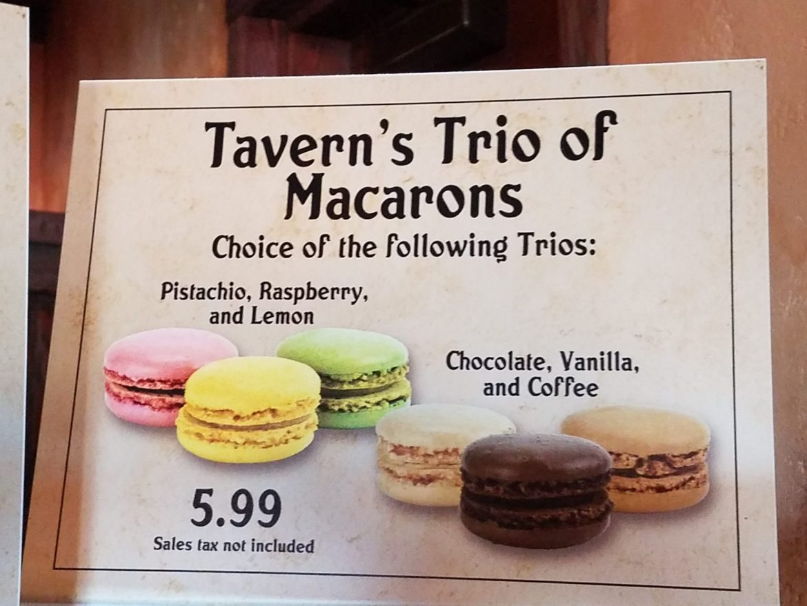 Gaston's Tavern Featuring Tavern's Trio Of Macarons