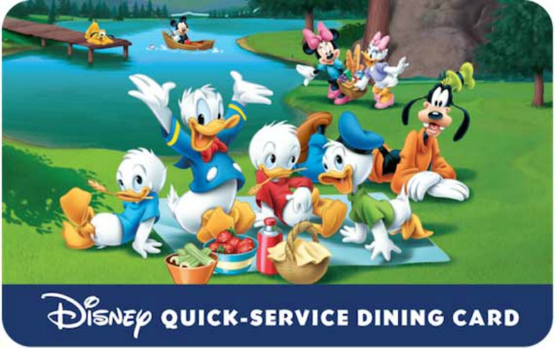 Discounted Disney Quick Service Dining Gift Card Now Available With Certain Good Neighbor Packages for a Limited Time