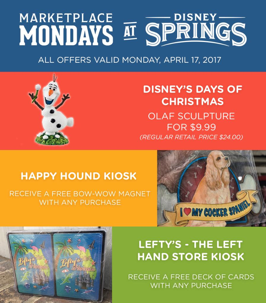 Stop by Disney Springs This Week for Some Great Offers!