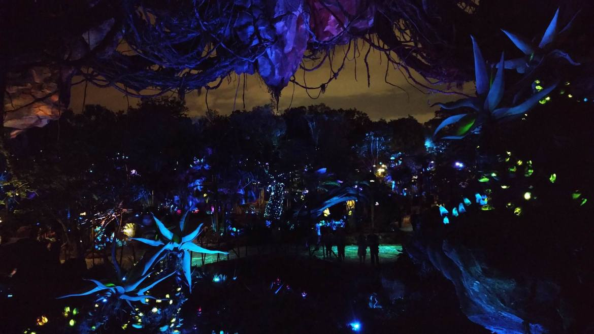 See Pandora – The World of Avatar Come to Life After Dark
