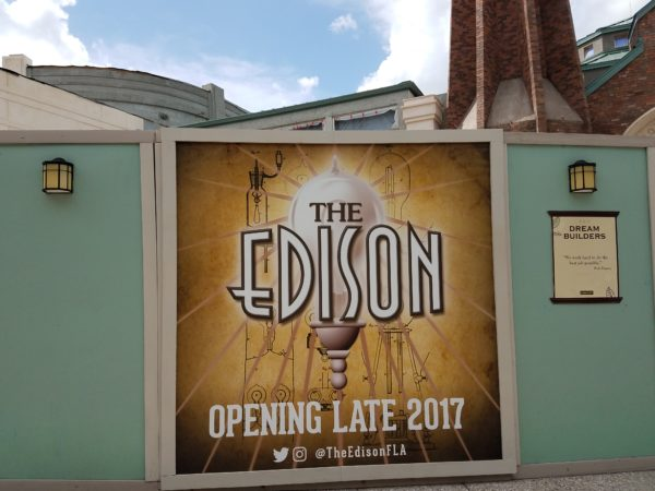 Construction Update for The Edison Disney Springs