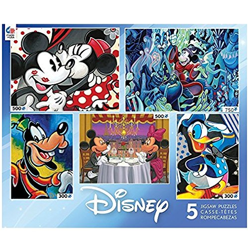 Disney Classics 5 Puzzle Set for Rainy Summer Days