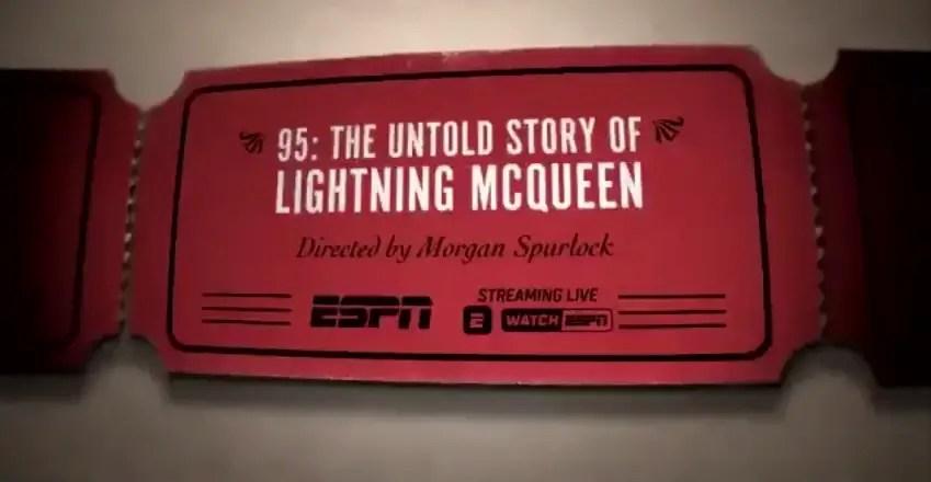 Lightning McQueen Documentary To Be Streamed Live on ESPN