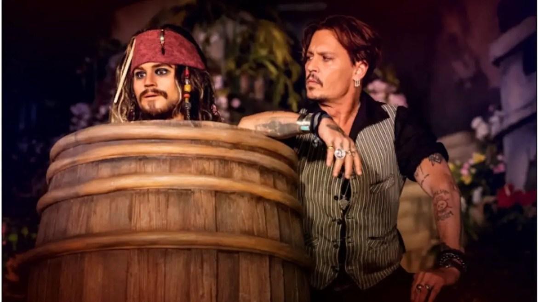 Johnny Depp Makes Surprise Visit to Disneyland Paris
