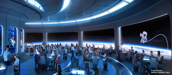 Spaced-Themed Restaurant Taking Shape at Epcot