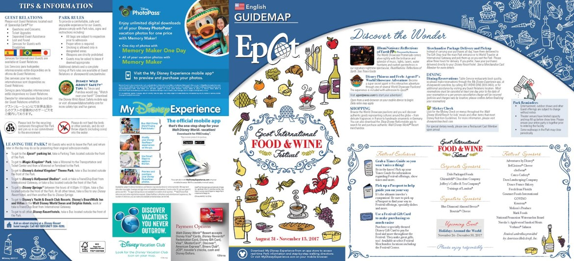 The 2017 Epcot International Food & Wine Festival Guidemap is Here!