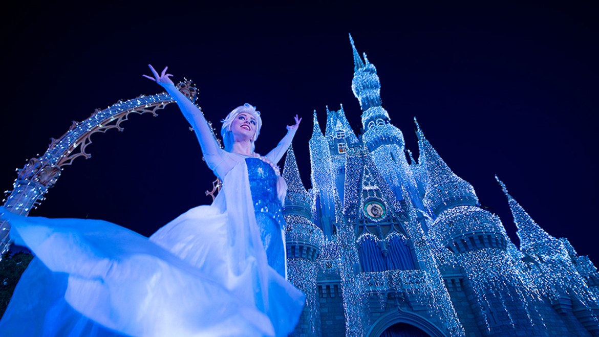 Disney Parks Live Will Live Stream 'A Frozen Holiday Wish' Castle Lighting This Week