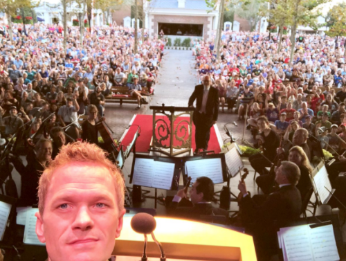 Neil Patrick Harris Shares Candlelight Processional Selfie on Twitter