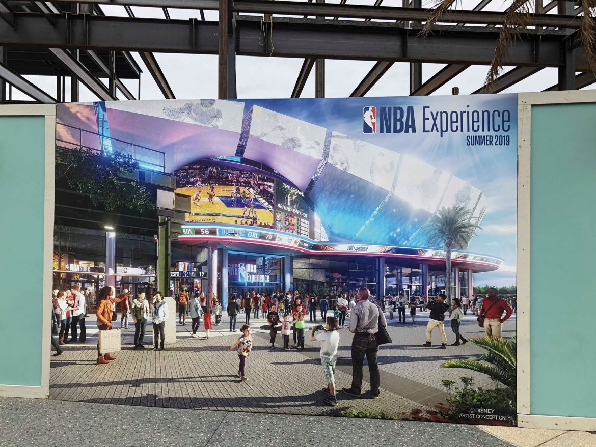 Construction Update in NBA Experience Coming to Disney Springs