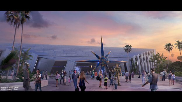 VIDEO: Construction is in Full Force on 'Guardians of the Galaxy' Roller Coaster Coming to Epcot