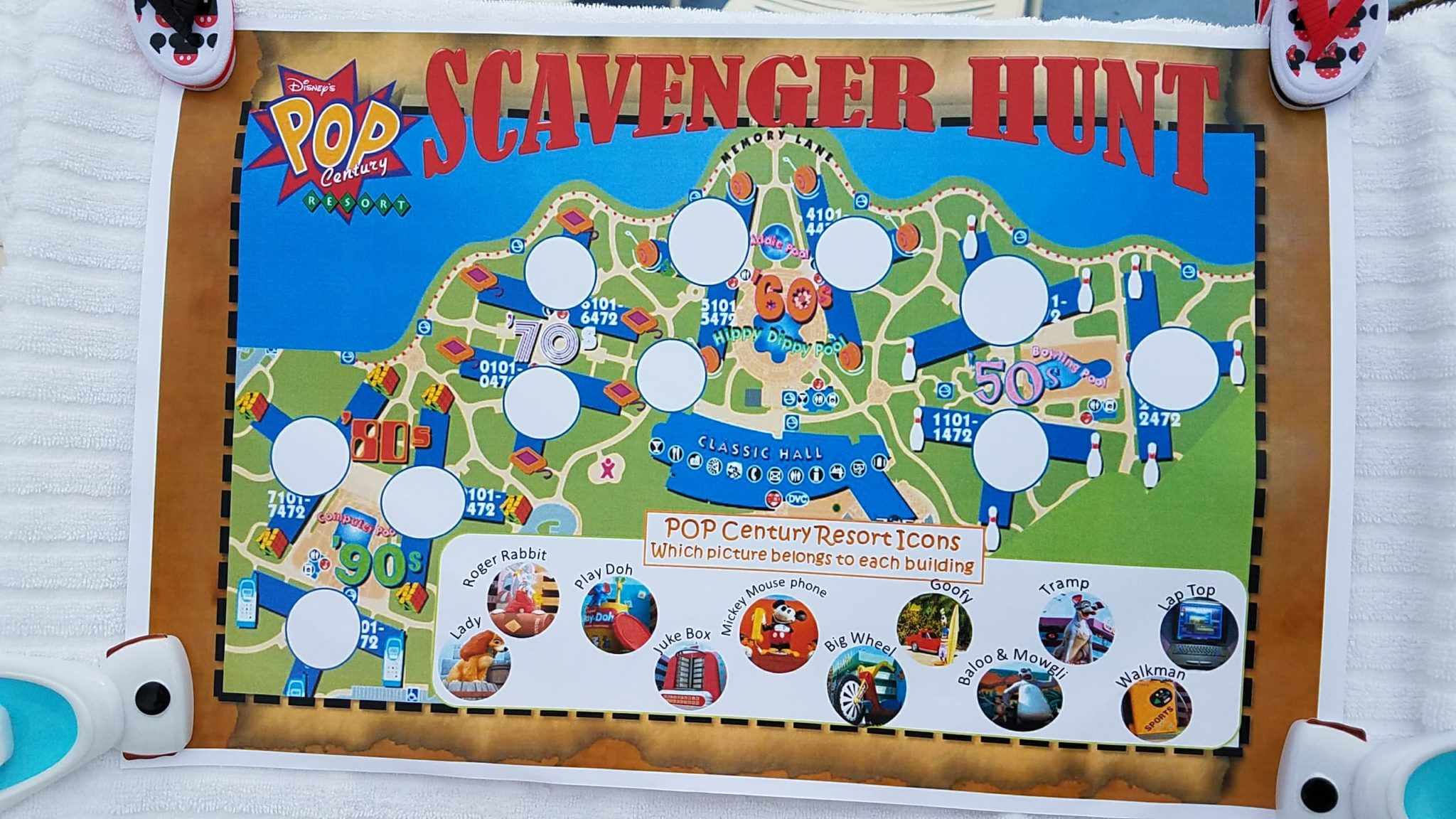 Pop Century Resort Scavenger Hunt Features Groovy Family Fun