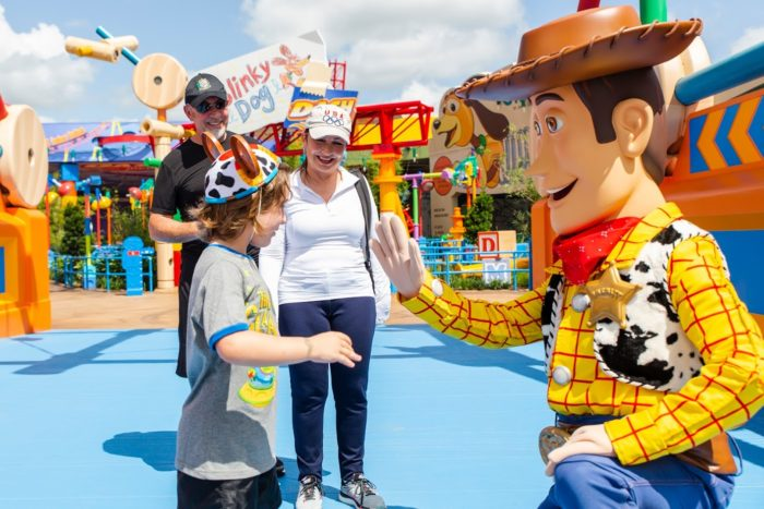 celebrities that have paid a visit to Toy Story Land