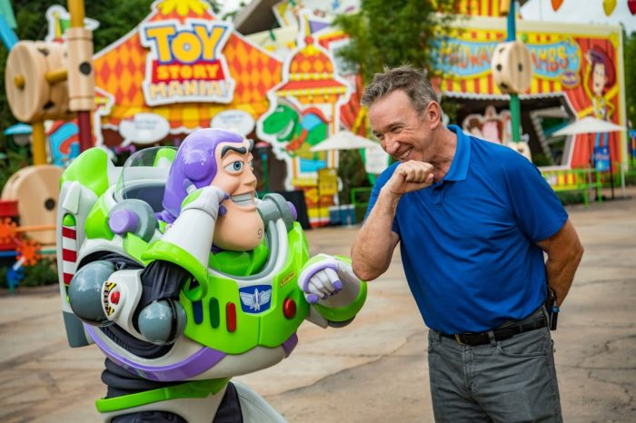 Tim Allen and Other Celebrities Visit Toy Story Land