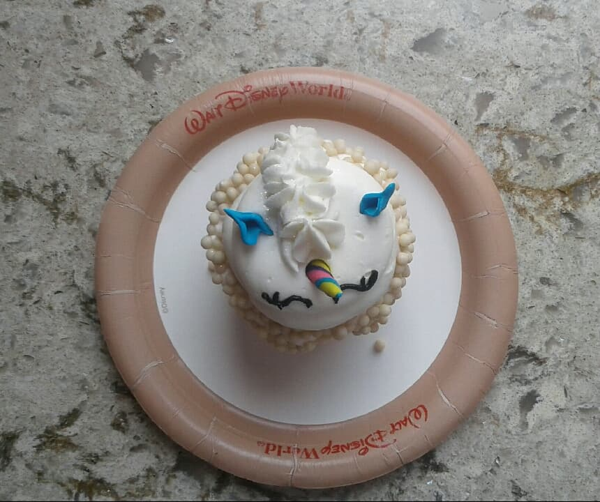 You'll Be Over the Rainbow With This Unicorn Cupcake at the Magic Kingdom