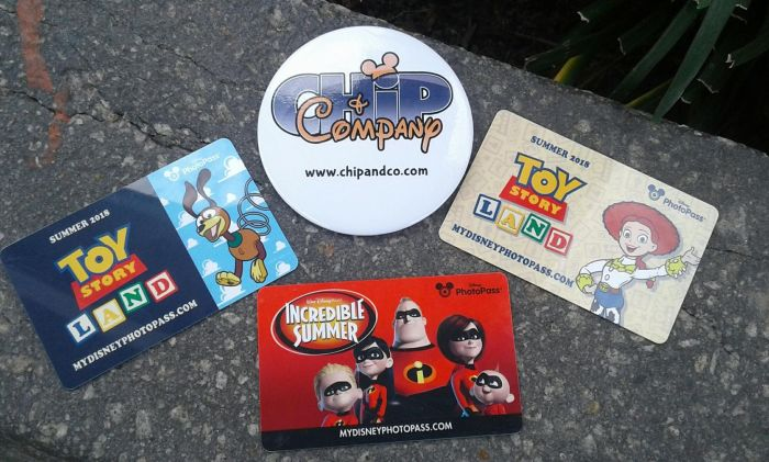 Toy Story Land and Incredibles PhotoPass Cards