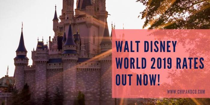 2019 Walt Disney World Vacation Packages Are Now Available