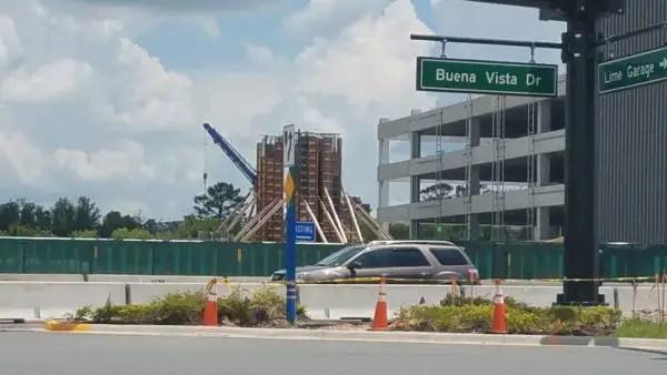 PHOTO: Construction on the Disney Spring Parking Garage Pedestrian Walkway Progresses 3