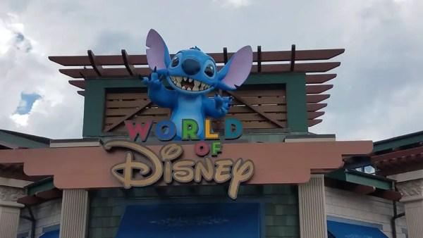 new World of Disney signage