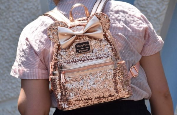2ffe10bbc25 We re Obsessed With The Rose Gold Minnie Mouse Backpack And Wallet
