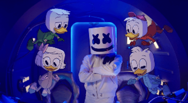 Marshmello and DuckTales Fly Music Video