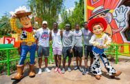 Dak Prescott of the Dallas Cowboys and His Wide Receivers Visit Toy Story Land