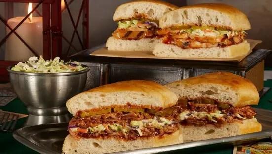 BBQ Chicken and BBQ Pulled Pork Sandwiches